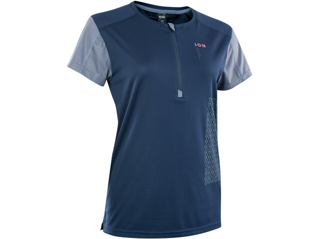 ION Traze VENT Half-Zip SS Tee Women, azul